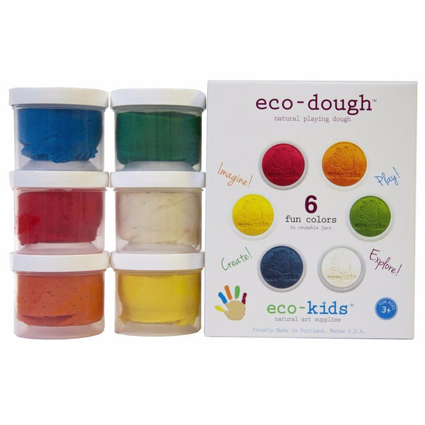 Kids Eco Dough | Natural Play Dough | 6 Pack - Books and Activities - Poshinate Kiddos Baby & Kids Boutique - 6 pack shows all colors