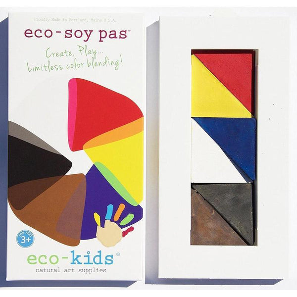 Kids Eco Pas Coloring Wedges | Soy Based - 6 pc set | Books & Activities - Poshinate Kiddos Baby & Kids Store - front & inside of box