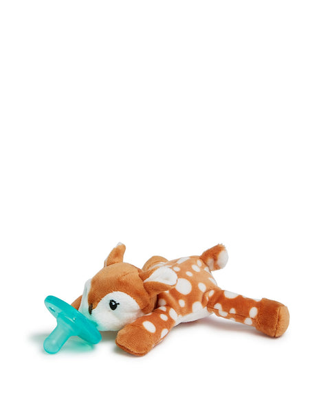 Baby Pacifier | WubbaNub | Fawn - Baby Pacifier - Poshinate Kiddos Baby & Kids Gifts - Side Profile