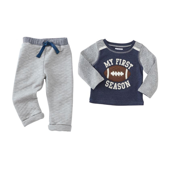 Boys Outfit | Football My First Season | Navy Grey-Boys Outfits-Poshinate Kiddos Baby & Kids Store