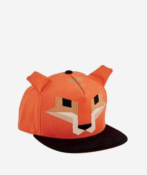 Kids Hat | Fox Design | Orange Black Tan - Kids Hats - Poshinate Kiddos Baby & Kids Store