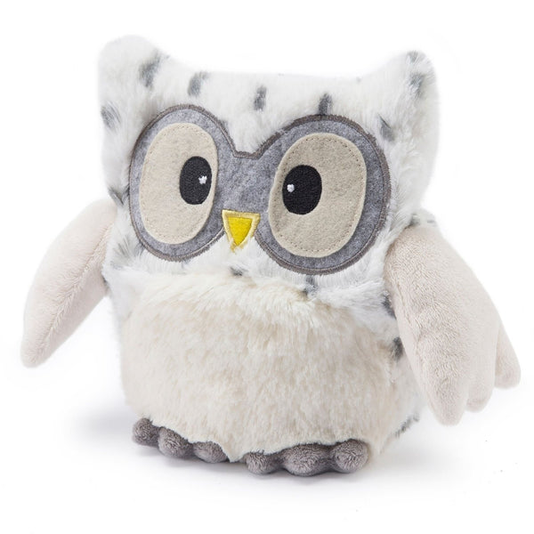 Heatable Stuffed Animal | Hootie Owl | Snow White - Heatable Plush Toys - - Poshinate Kiddos
