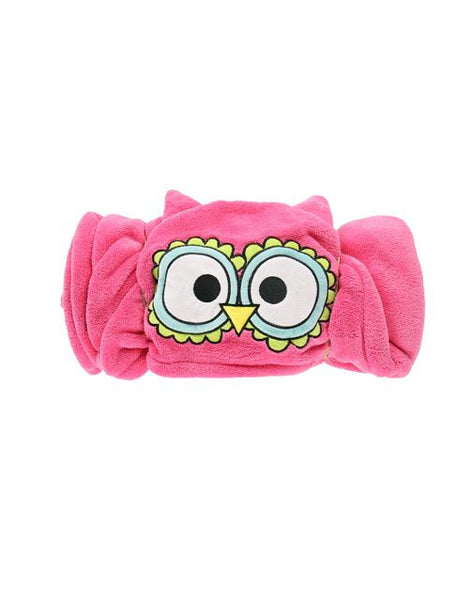 Hooded kids fleece blanket | Owl - Blankets - Poshinate Kiddos Baby & Kids Store - rolled round