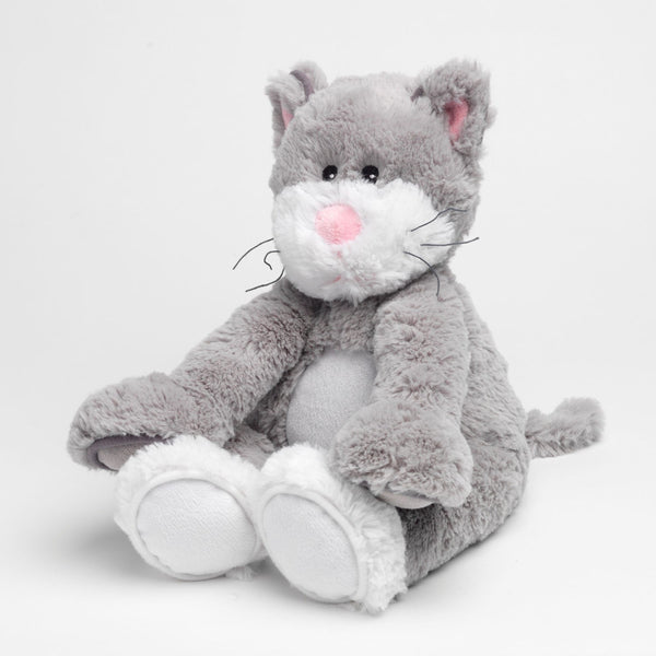 Heatable Stuffed Animal | Gray Cat - Heatable Plush Toys - Poshinate Kiddos