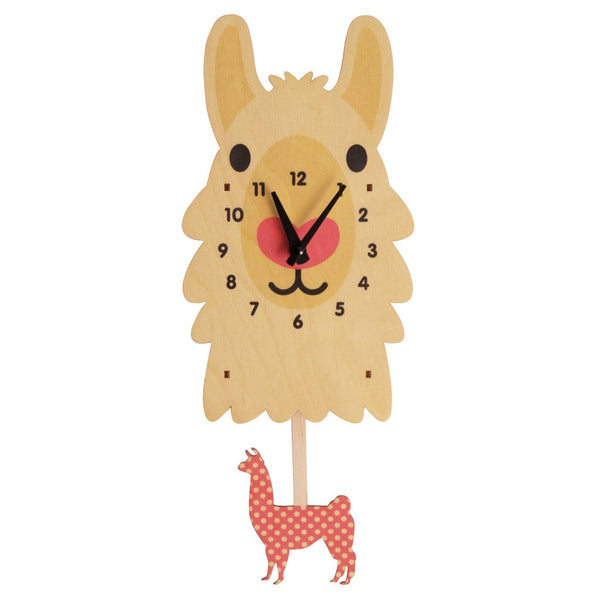Pendulum Clock | Llama - Pendulum Clocks - Poshinate Kiddos Baby & Kids Boutique - Side View