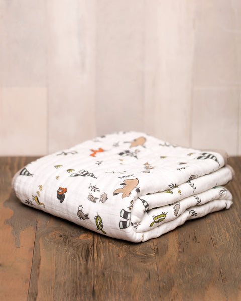 Cotton Muslin Quilt | Forest Friends - Blankets -  - Poshinate Kiddos
