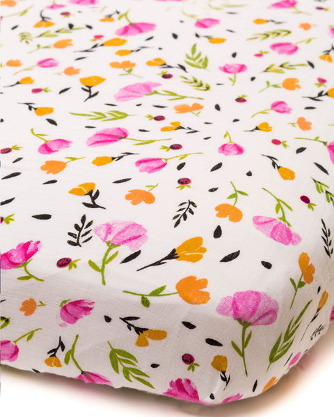 Crib Sheets | Fitted Cotton Muslin | Berry & Bloom - Crib Sheets -  - Poshinate Kiddos