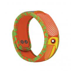Kids Mosquito Repellent | Wristband | Orange Tropical Toucan