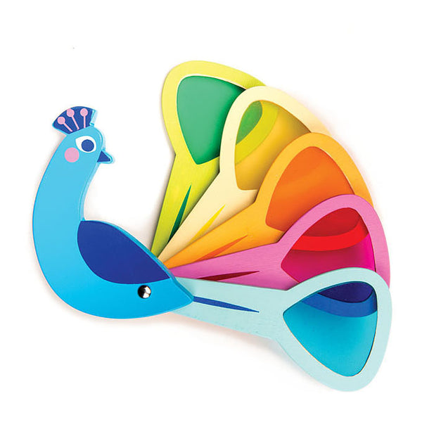 Wooden Toys | Colorful Peacock Feathers | Sustainable Wood