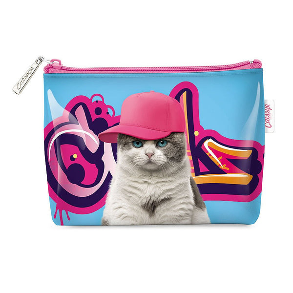 Kids Purse | Kitty Cat at on Graffiti Pink