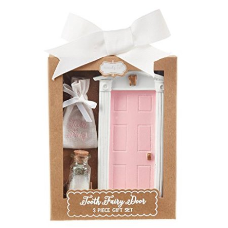 Tooth Fairy Door Gift Set | Pink/White - Tooth Fairy - Poshinate Kiddos Baby & Kids Store