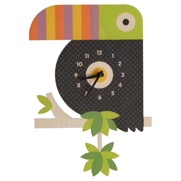 Pendulum Clock | Toucan - Pendulum Clocks - Poshinate Kiddos Baby & Kids Store
