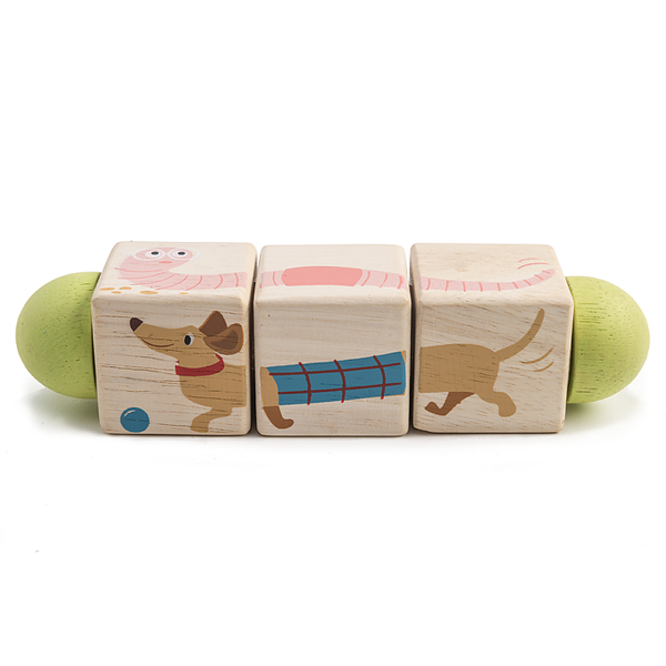 Wooden Toys | Matching & Dexterity Animal Twist Cubes | Sustainable Wood