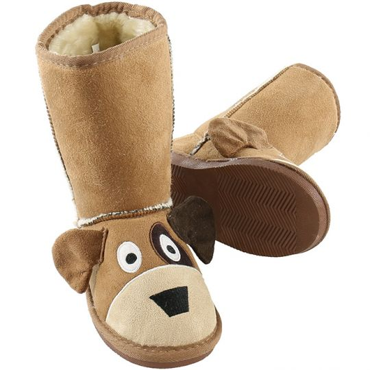 Kids Slippers / Boots | Puppy Dog | Brown