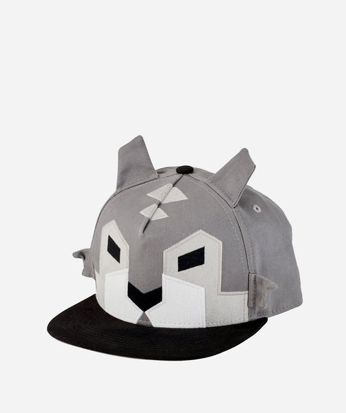 Kids Hat | Wolf Design | Grey Black White - Kids Hats - Poshinate Kiddos Baby & Kids Gifts