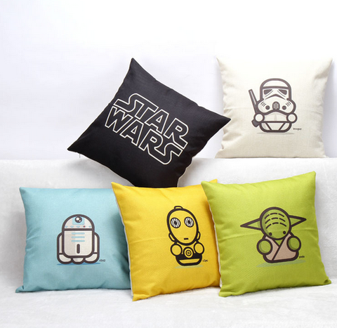 Star Wars Throw Pillow Set - The Nerd Cave - 1