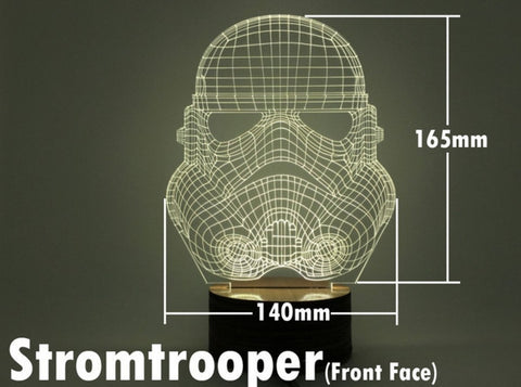 Stormtrooper fornt 3D Night Light - The Nerd Cave - 1