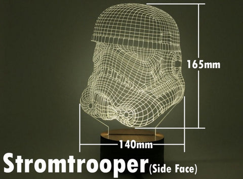 Stormtrooper side 3D Night Light - The Nerd Cave - 1