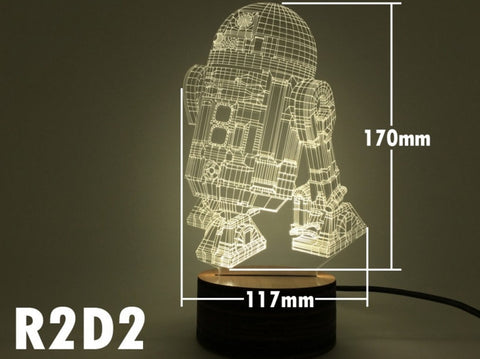R2-D2 3D Night Light - The Nerd Cave - 1