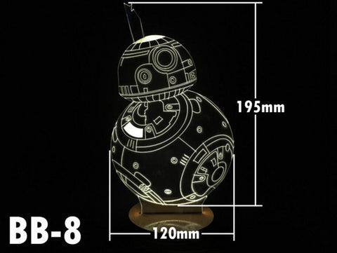 BB-8 3D Night Light - The Nerd Cave - 1