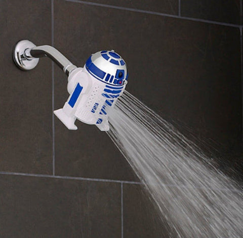 R2-D2 3-Spray Showerhead - The Nerd Cave - 1