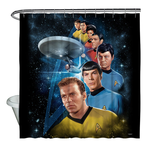 Among The Stars Shower Curtain - The Nerd Cave