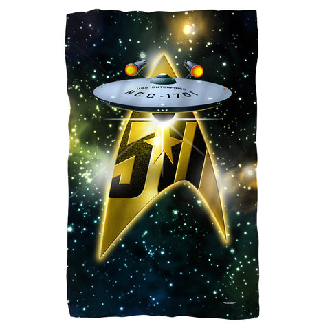 50th Ship Fleece Blanket