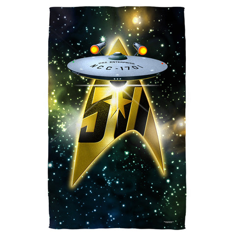 50th Ship Beach Towel