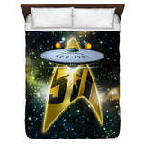 50th Ship Duvet Cover