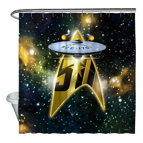 50th Ship Shower Curtain