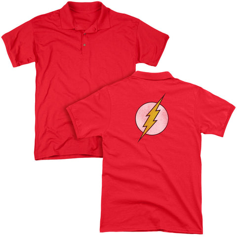 Flash Logo Distressed (Back Print) - The Nerd Cave