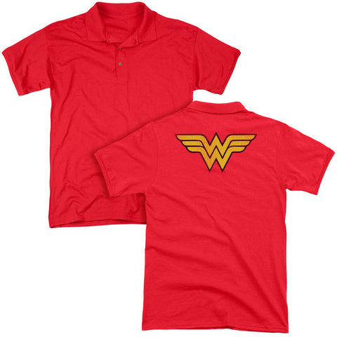 Wonder Woman Logo Dist (Back Print) - The Nerd Cave