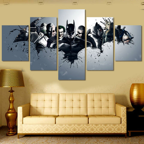 Batman And Villains - 5 Piece Canvas - The Nerd Cave - 1