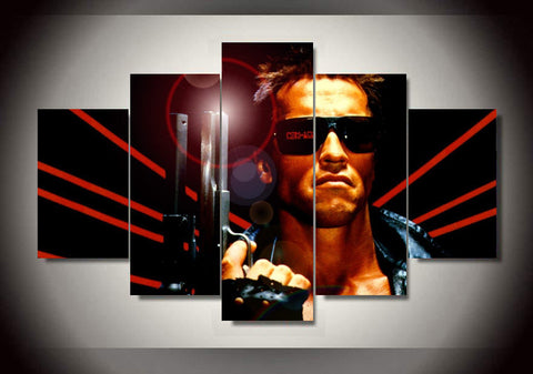 Terminator 5 Piece Canvas LIMITED EDITION - The Nerd Cave - 1