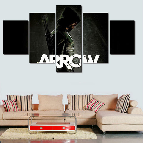 Green Arrow - 5 Piece Canvas LIMITED EDITION - The Nerd Cave - 1