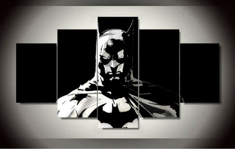 B-man - Black and White 5 Piece Canvas LIMITED EDITION - The Nerd Cave