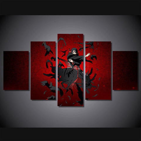 Naruto - Uchiha Itachi 5 Piece Canvas LIMITED EDITION - The Nerd Cave - 1