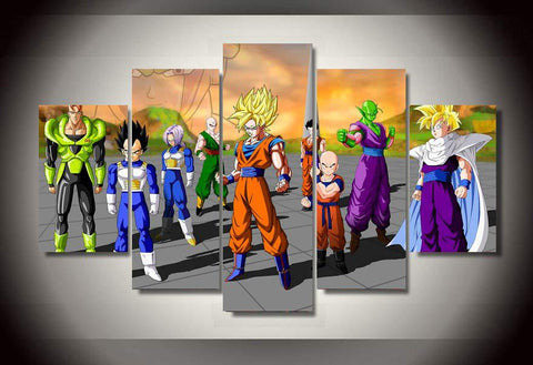 DBZ - Team 5 Piece Canvas LIMITED EDITION - The Nerd Cave