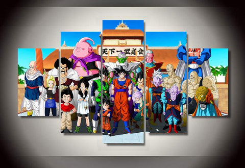Dragon Ball z - Group 5 Piece Canvas LIMITED EDITION - The Nerd Cave