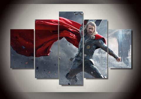God of Thunder and Lightning - 5 Piece Canvas LIMITED EDITION