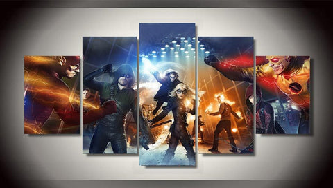 Flash & Green Arrow 5 Piece Canvas LIMITED EDITION - The Nerd Cave