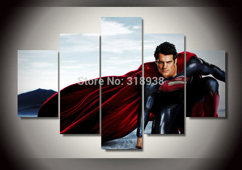 Super Man Multiple Piece Canvas LIMITED EDITION - The Nerd Cave
