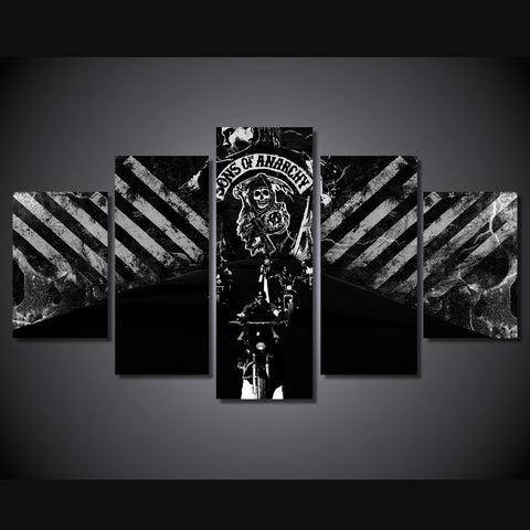 Sons of Anarchy - The Gunners 5 Piece Canvas LIMITED EDITION