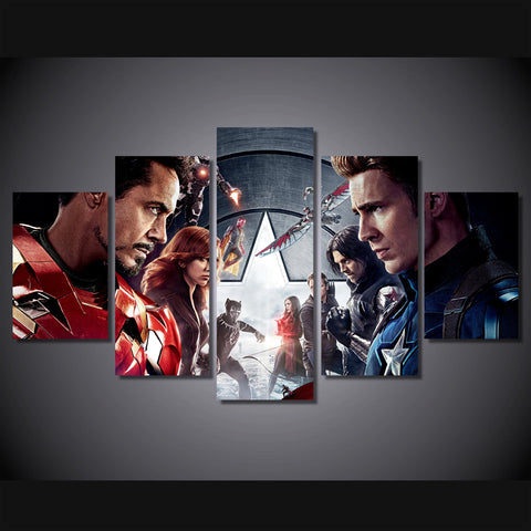 Civil War - 5 Piece Canvas LIMITED EDITION - The Nerd Cave - 1