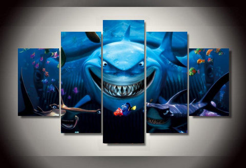 Sharks - 5 Piece Canvas LIMITED EDITION - The Nerd Cave