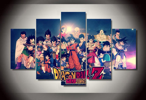 Dragon Ball Z - Characters 5 Piece Canvas LIMITED EDITION - The Nerd Cave