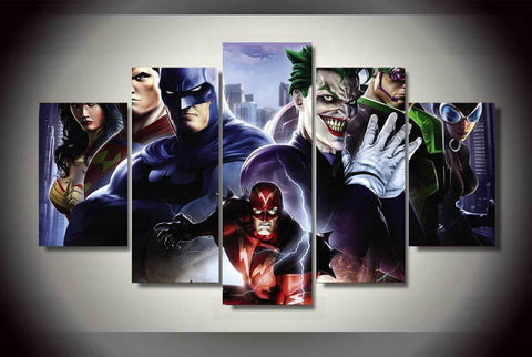 Super Hero Universe - 5 Piece Canvas LIMITED EDITION - The Nerd Cave