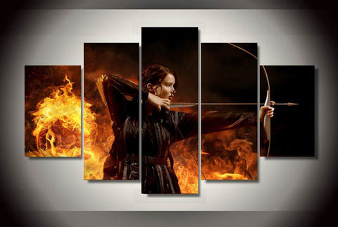 Katniss 5 Piece Canvas LIMITED EDITION - The Nerd Cave