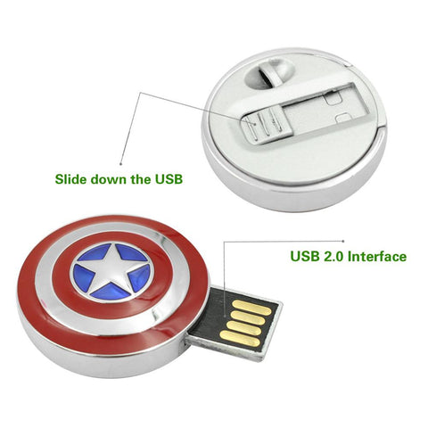 Captain Shield Flash Drive