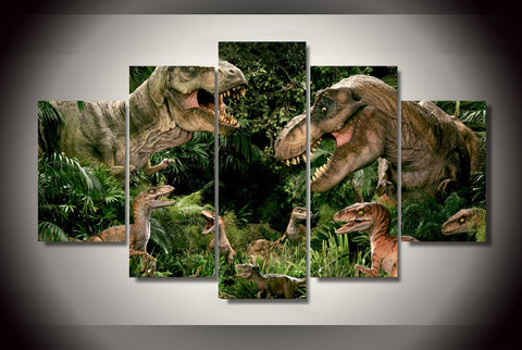 Jurassic Park - T-rex 5 Piece Canvas LIMITED EDITION